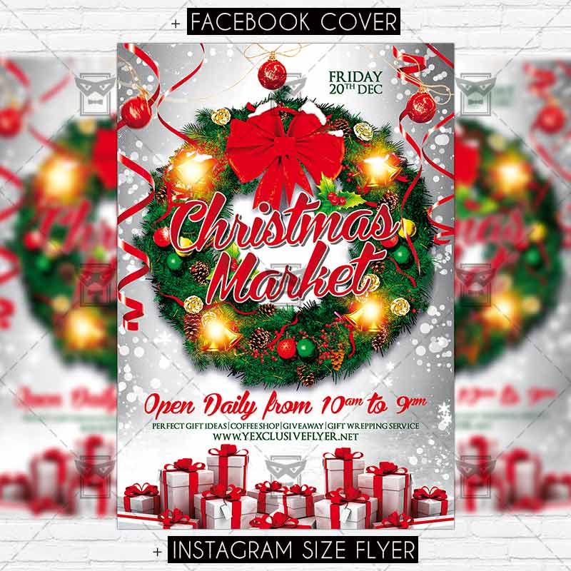 Download Free Christmas Market – Premium Flyer Template