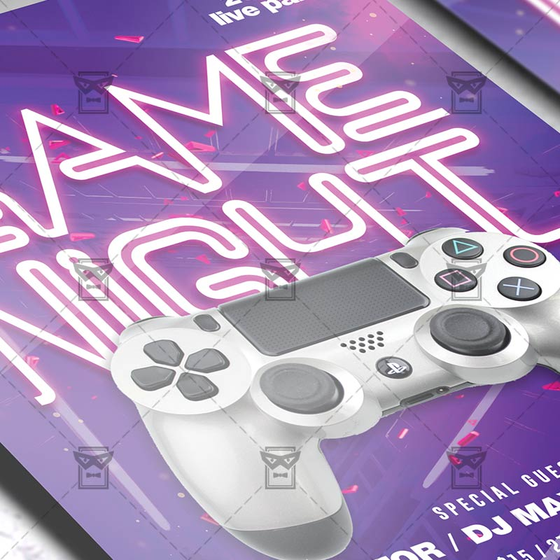 Download Game Night PSD Flyer Template Now