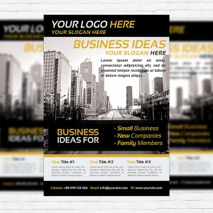 Modern Business Flyer - Premium PSD Flyer Template-1