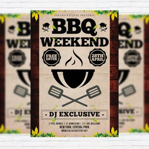 Barbecue - Premium Flyer Template + Facebook Cover-1