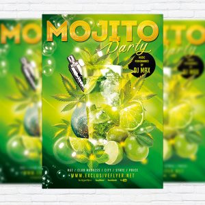 Mojito Night - Premium Flyer Template + Facebook Cover-1