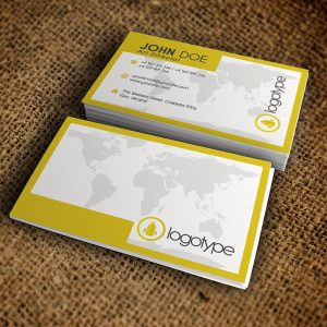Corporate Yellow Business Card - Premium Business Card Template-1