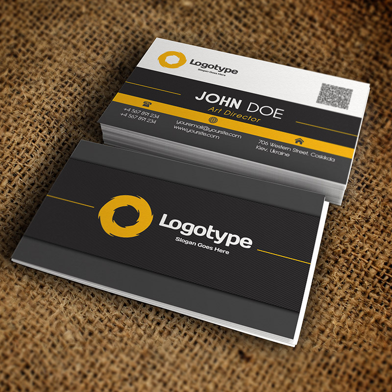corporate business card � premium business card template