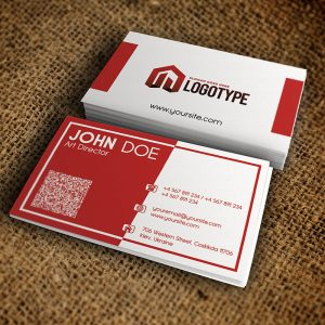 Corporate Red Business Card - Premium Business Card Template-1