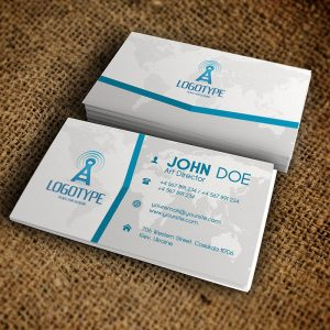 Corporate Blue Business Card - Premium Business Card Template-1