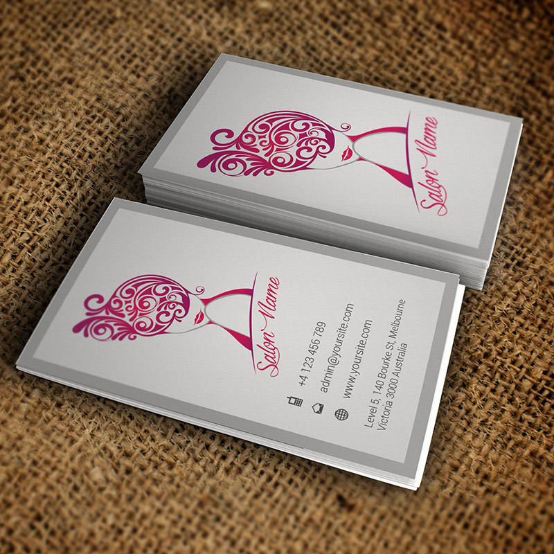 Vertical Beauty Salon Business Card – Premium Business Card Template ...