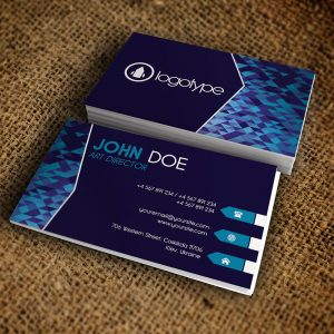 Corporate Geometric Business Card - Premium Business Card Template-1