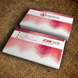 Corporate Pink Business Card - Premium Business Card Template-1