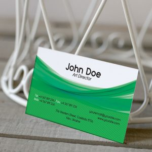 Corporate Green Business Card - Free PSD Template-2