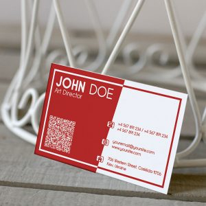 Corporate Red Business Card - Premium Business Card Template-2