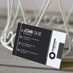 Corporate Black Business Card - Premium Business Card Template-2