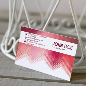 Corporate Pink Business Card - Premium Business Card Template-2