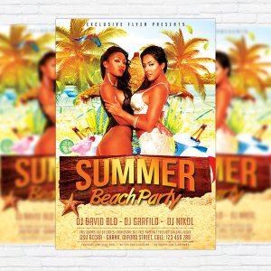Summer Beach Party Vol.3 - Premium Flyer Template + Facebook Cover-1