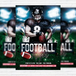 Football Night - Free Club and Party Flyer PSD Template-1