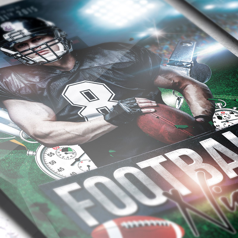 Football Night - Free Club and Party Flyer PSD Template-3
