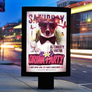 Drink Night - Premium Flyer Template + Facebook Cover-2