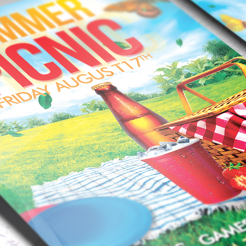 Summer Picnic – Premium Flyer Template + Facebook Cover