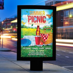 Summer Picnic - Premium Flyer Template + Facebook Cover-2