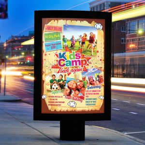 Kids Summer Camp - Premium Business Flyer PSD Template-2