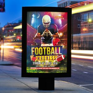 Football Madness - Free Club and Party Flyer PSD Template-2