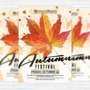 Autumn Festival Vol.2 - Premium Flyer Template + Facebook Cover