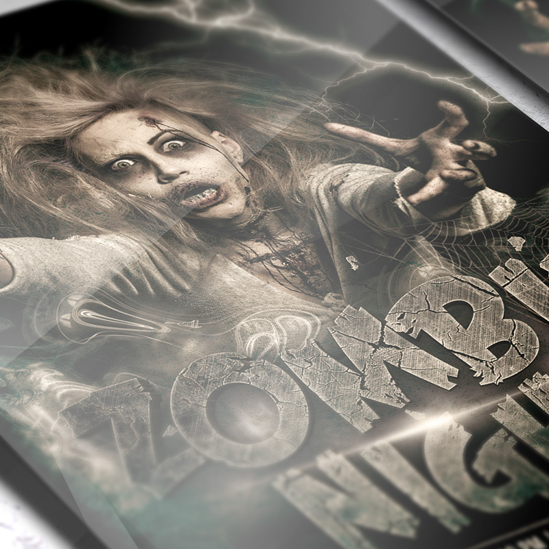 Zombie Night  Premium Flyer Template  Facebook Cover