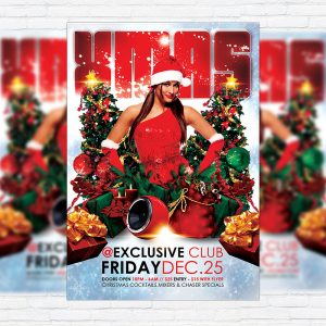 Xmas Party - Premium Flyer Template + Facebook Cover