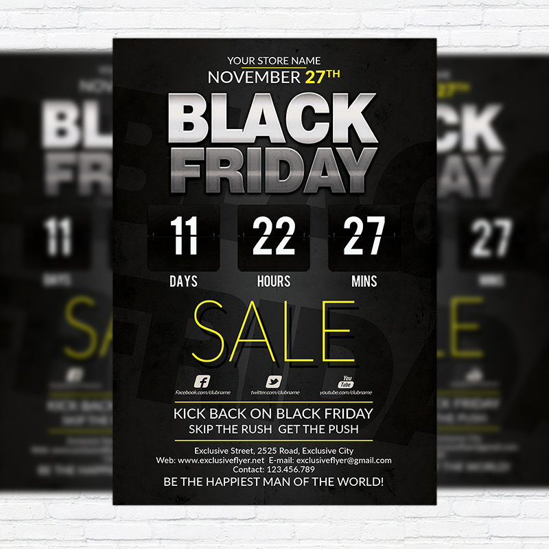 Best Black Friday Deal – Premium Flyer Template | Exclsiveflyer