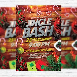 Jingle Bash - Premium Flyer Template + Facebook Cover