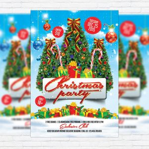 Christmas Party - Free Club and Party Flyer PSD Template