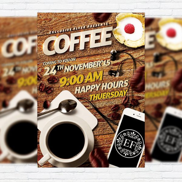 Coffee Flyer - Premium Flyer Template + Facebook Cover