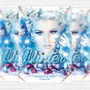Winter Bash - Premium Flyer Template + Facebook Cover