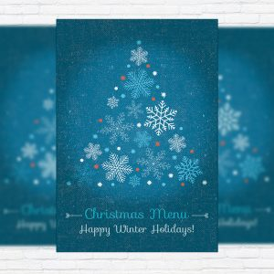 Christmas Menu - Premium A5 Menu Template
