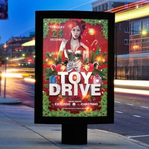 Toy Drive Party - Premium Flyer Template + Facebook Cover