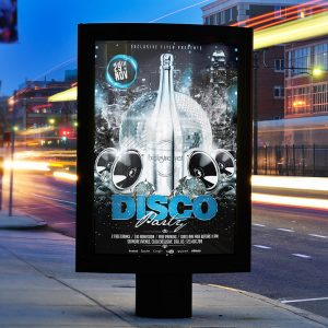Disco Party - Premium Flyer Template + Facebook Cover