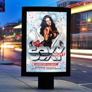 Sexy Night - Premium Flyer Template + Facebook Cover
