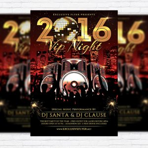 2016 VIP Night - Premium Flyer Template + Facebook Cover