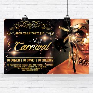 Vip Carnival - Premium Flyer Template + Facebook Cover