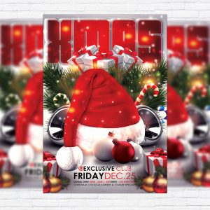 Xmas Bash - Premium Flyer Template + Facebook Cover