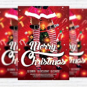 Sexy Christmas - Premium Flyer Template + Facebook Cover