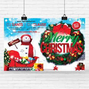 Merry Christmas - Premium Flyer Template + Facebook Cover