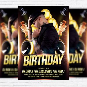 Birthday Party - Free Club and Party Flyer PSD Template