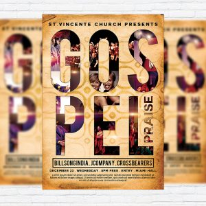 Gospel Praise - Premium Flyer Template + Facebook Cover