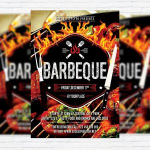 Barbeque Party - Premium Flyer Template + Facebook Cover