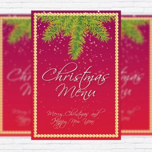 Christmas Menu Vol.2 - Premium A5 Menu Template