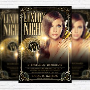 Luxury Night - Premium Flyer Template + Facebook Cover