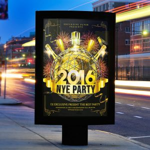 2016 NYE Night - Premium Flyer Template + Facebook Cover