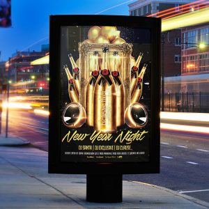 New Year Night - Premium Flyer Template + Facebook Cover