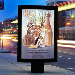 New Year Bash - Premium Flyer Template + Facebook Cover