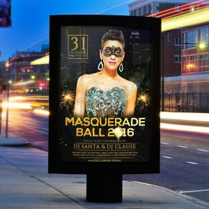 Masquerade Ball 2016 - Premium Flyer Template + Facebook Cover